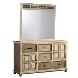 Hillsdale Accents Dresser and Mirror