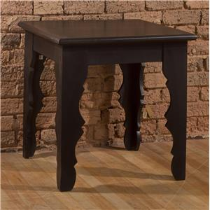 Morris Home Accents End Table with Distressed Finish