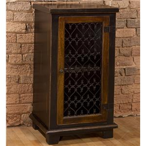 Morris Home Accents Cabinet with Metal Insert Door