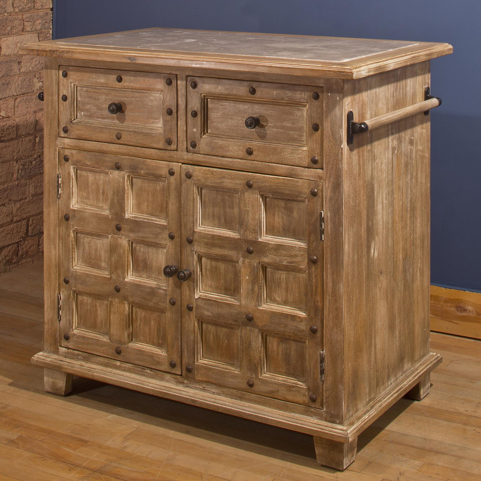 Hillsdale Accents Kitchen Island with Nailhead Trim - Item Number: 5731-895