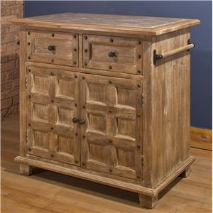 Morris Home Accents Kitchen Island with Nailhead Trim
