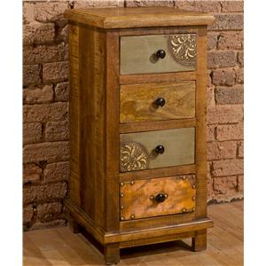 Hillsdale Accents Four Drawer Cabinet with X Design