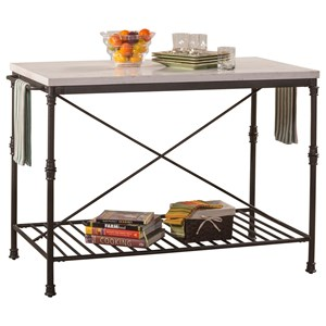 Hillsdale Accents Metal Kitchen Island