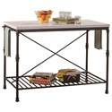 Hillsdale Accents Metal Kitchen Island - Item Number: 5976-880