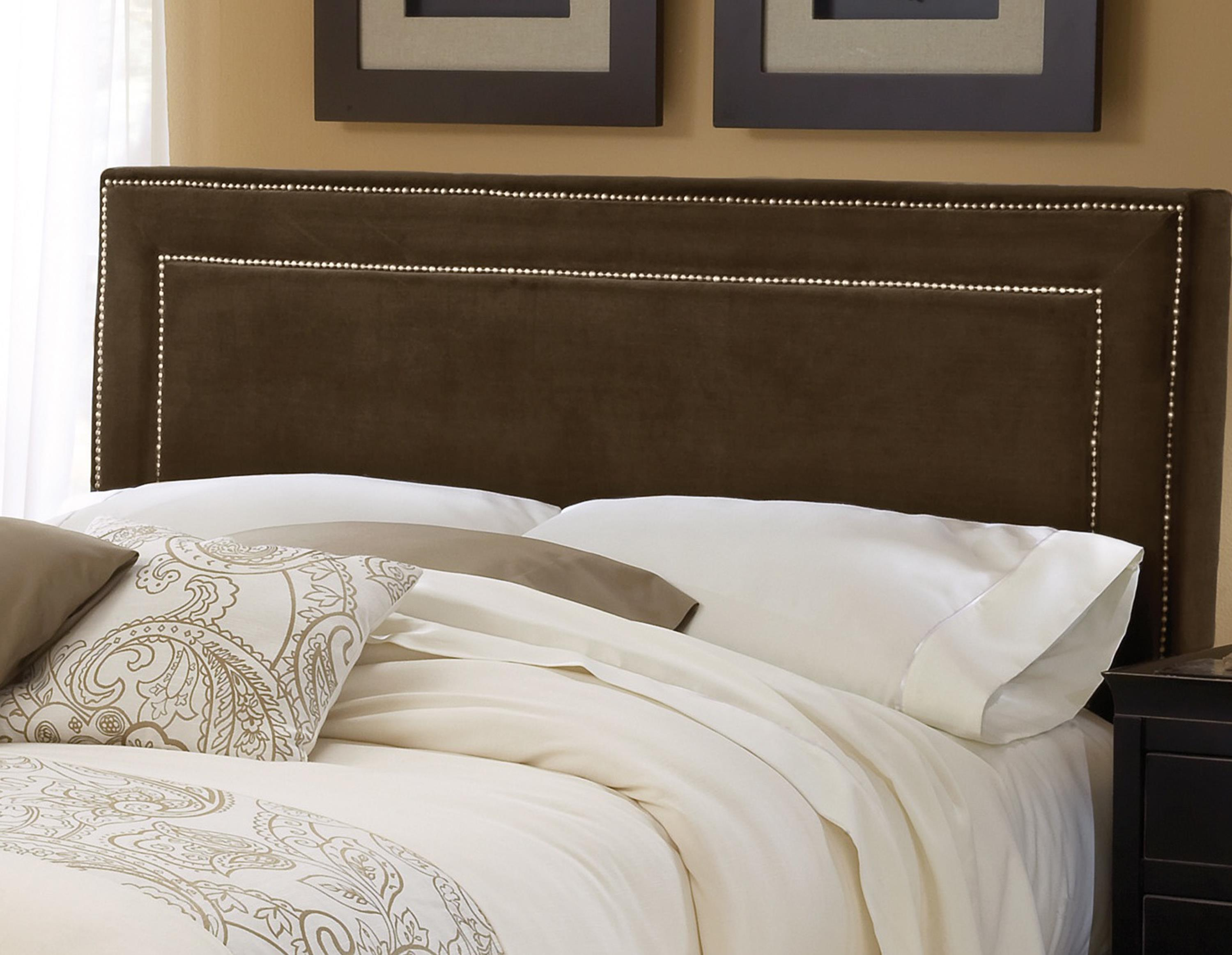 Hillsdale Amber Chocolate Fabric Headboard - King - Item Number: 1554-670