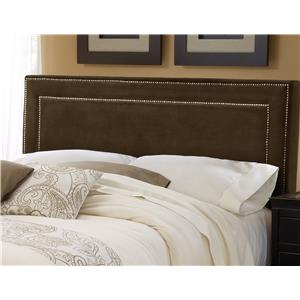Morris Home Furnishings Amber Chocolate Fabric Headboard - King