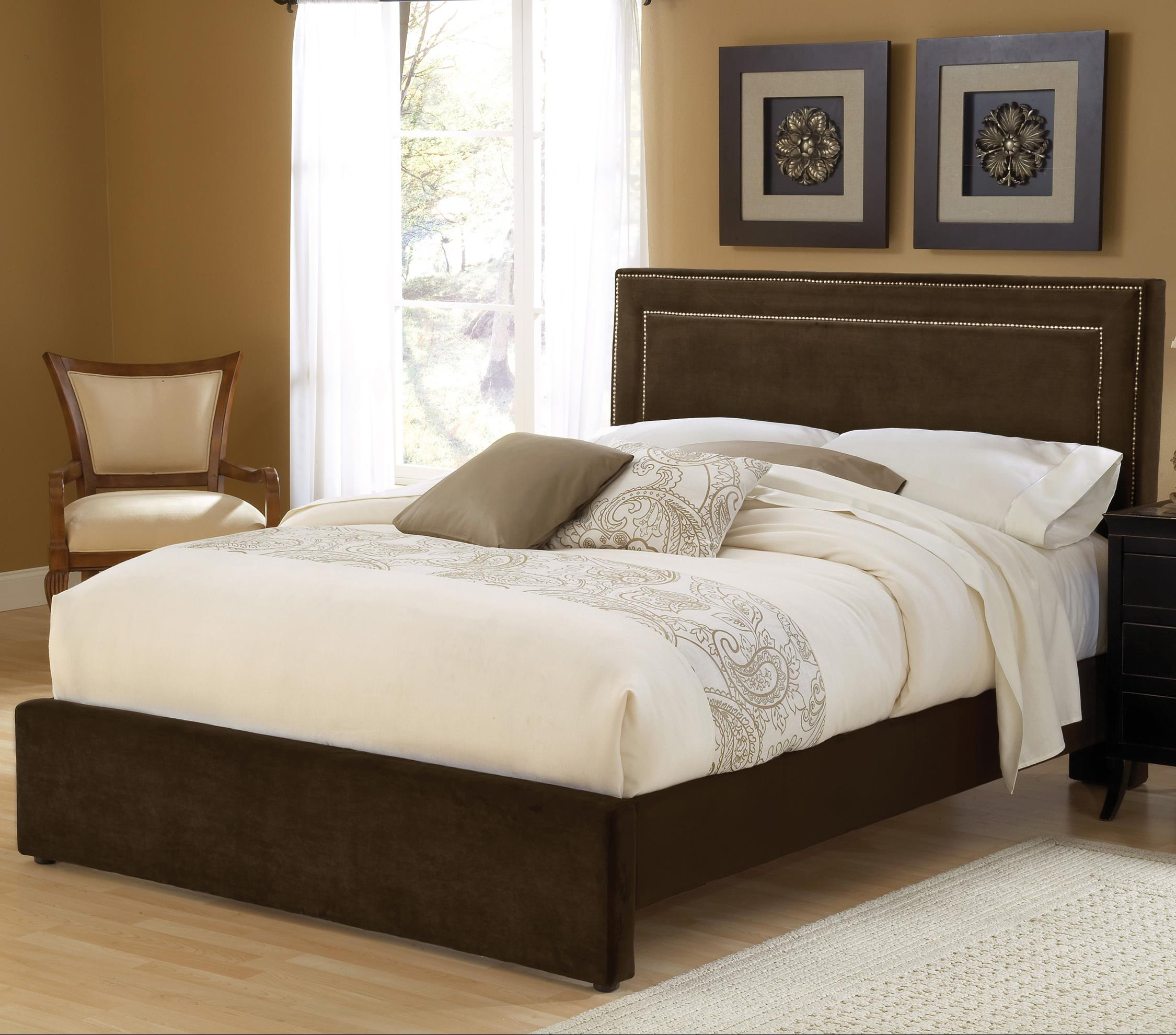 Hillsdale Amber Chocolate Cal King Bed Set with Rails - Item Number: 1554BCKRA