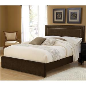 Morris Home Furnishings Amber Chocolate Queen Bed Set with Rails