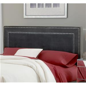Morris Home Amber Pewter Fabric Headboard - Queen