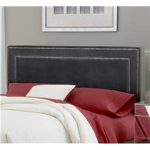 Hillsdale Amber Pewter King Headboard with Rail
