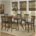Hillsdale Arbor Hill Gathering Height Table - Shown with Counter Stools as Seven Piece Set
