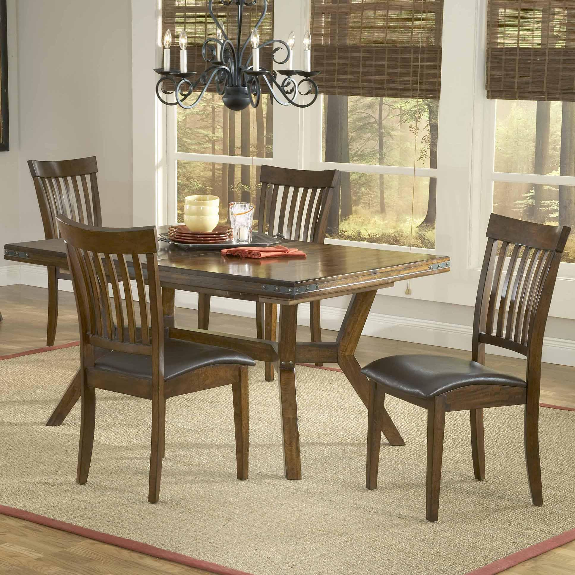 Hillsdale Arbor Hill 5 Piece Rectangular Dining Table Set - Item Number: 4232DTBC