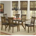 Hillsdale Arbor Hill 7 Piece Rectangular Dining Table Set - Item Number: 4232DTBC7