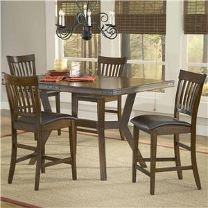Hillsdale Arbor Hill 5 Piece Counter Height Table Set