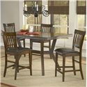Hillsdale Arbor Hill 5 Piece Counter Height Table Set - Item Number: 4232GTBS