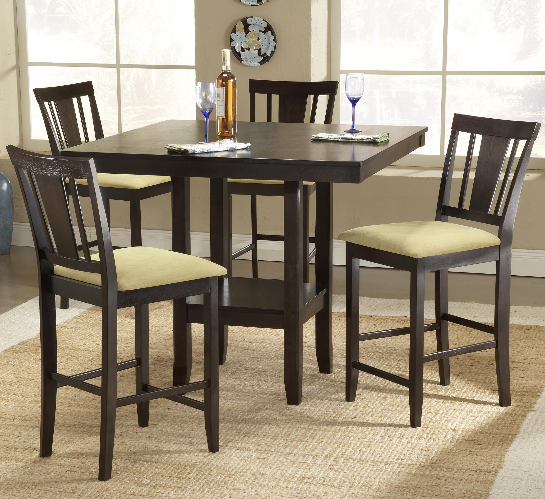 Hillsdale Arcadia 5 Piece Counter Height Table Set - Item Number: 4180DTBSG