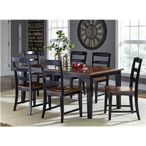 Morris Home Furnishings Avalon 7 Piece Table & Chair Set