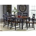 Hillsdale Avalon 7 Piece Table & Chair Set - Item Number: 5505DTBC7