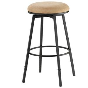 Morris Home Furnishings Backless Bar Stools Sanders Adjustable Backless Bar Stool