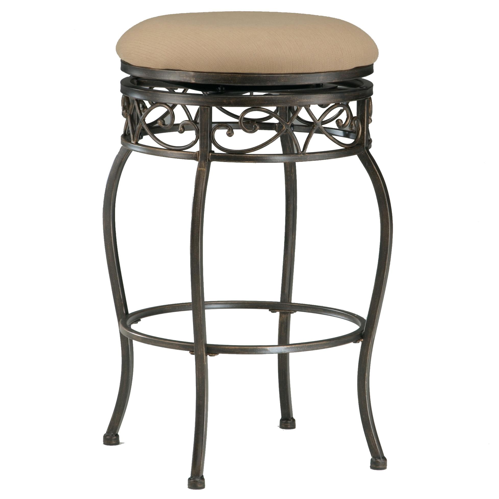 Hillsdale Backless Bar Stools 26  Backless Lincoln Swivel Counter Stool - Item Number 4336  sc 1 st  Dunk u0026 Bright Furniture & Hillsdale Backless Bar Stools 26