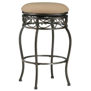 "Morris Home Furnishings Backless Bar Stools 26"" Backless Lincoln Swivel Counter Stool"