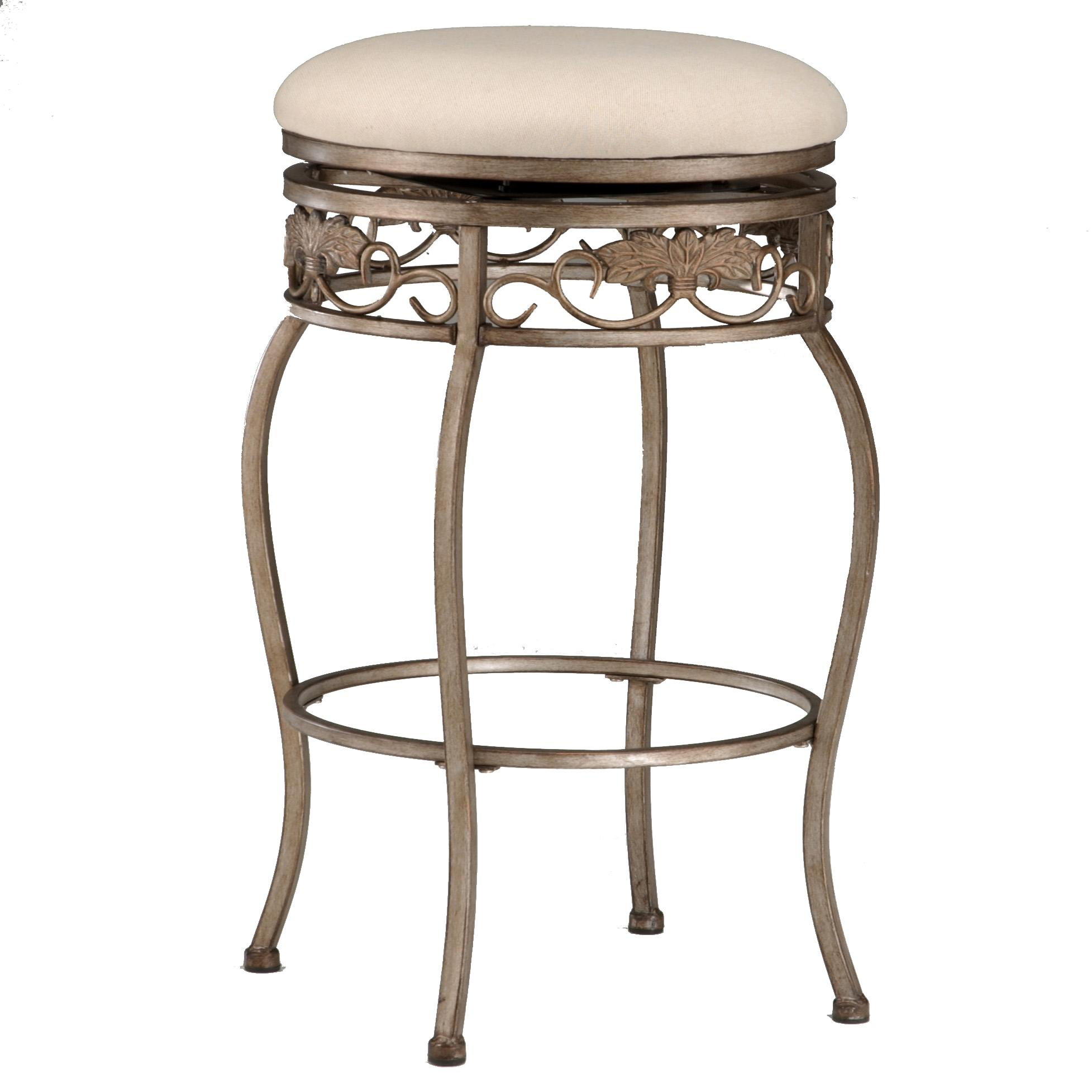 "Hillsdale Backless Bar Stools 26"" Backless Bordeaux Swivel Counter Stool - Item Number: 4358-827"