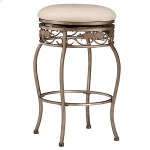 "Morris Home Backless Bar Stools 30"" Backless Bordeaux Swivel Bar Stool"