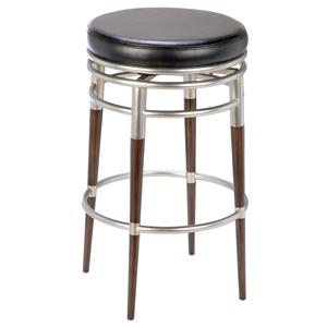 "Morris Home Backless Bar Stools 30"" Salem Backless Swivel Bar Stool"