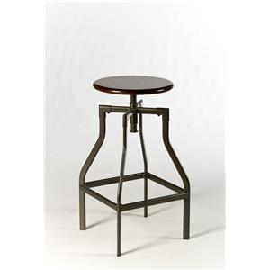 Morris Home Furnishings Backless Bar Stools Cyprus Adjustable Backless Stool