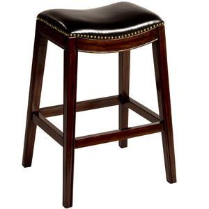 "Morris Home Backless Bar Stools 30"" Sorella Saddle Bar Stool"
