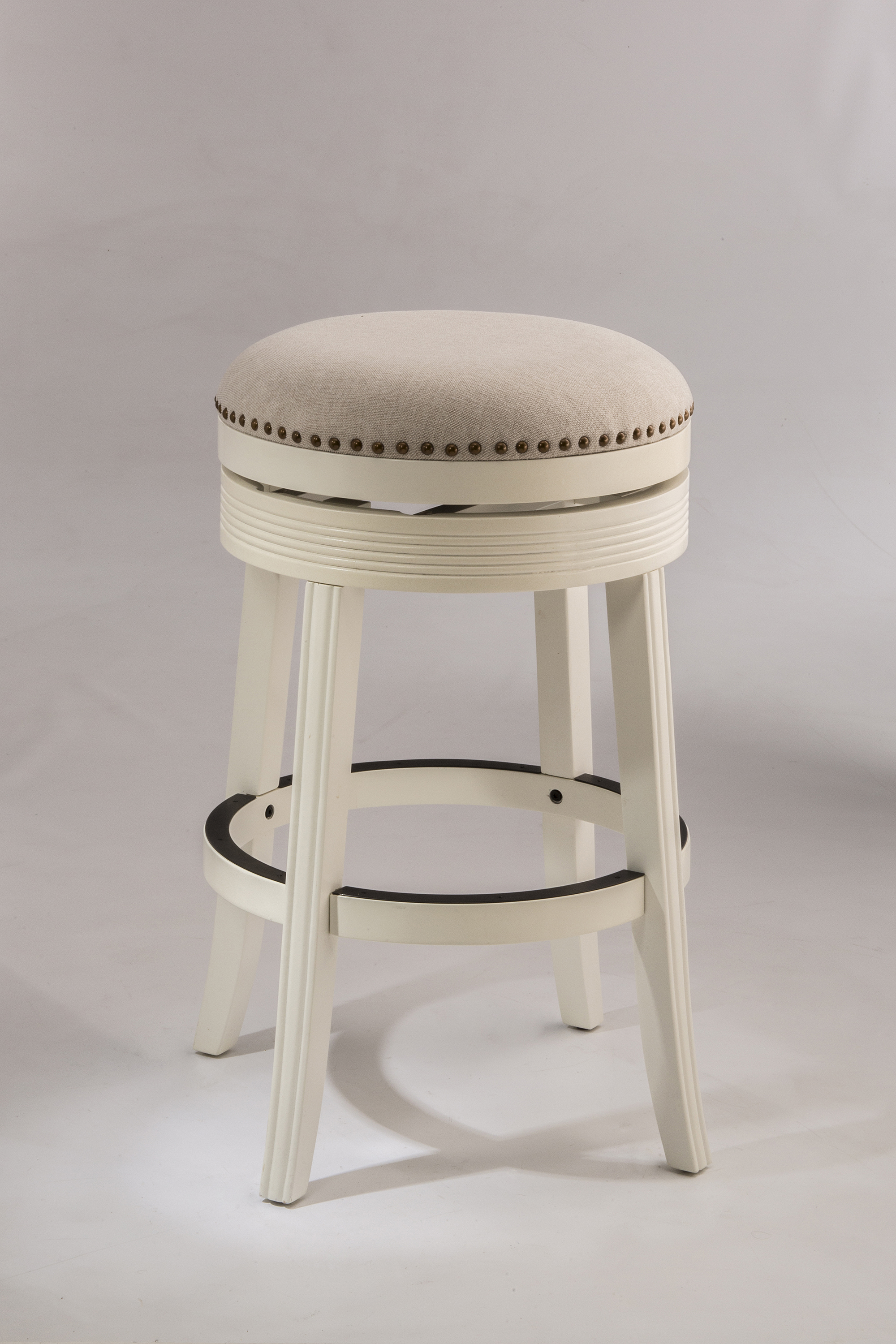 Hillsdale Backless Bar Stools 5688 830a White Backless