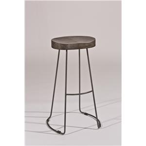 Morris Home Furnishings Backless Bar Stools Tractor Non-Swivel Bar Stool