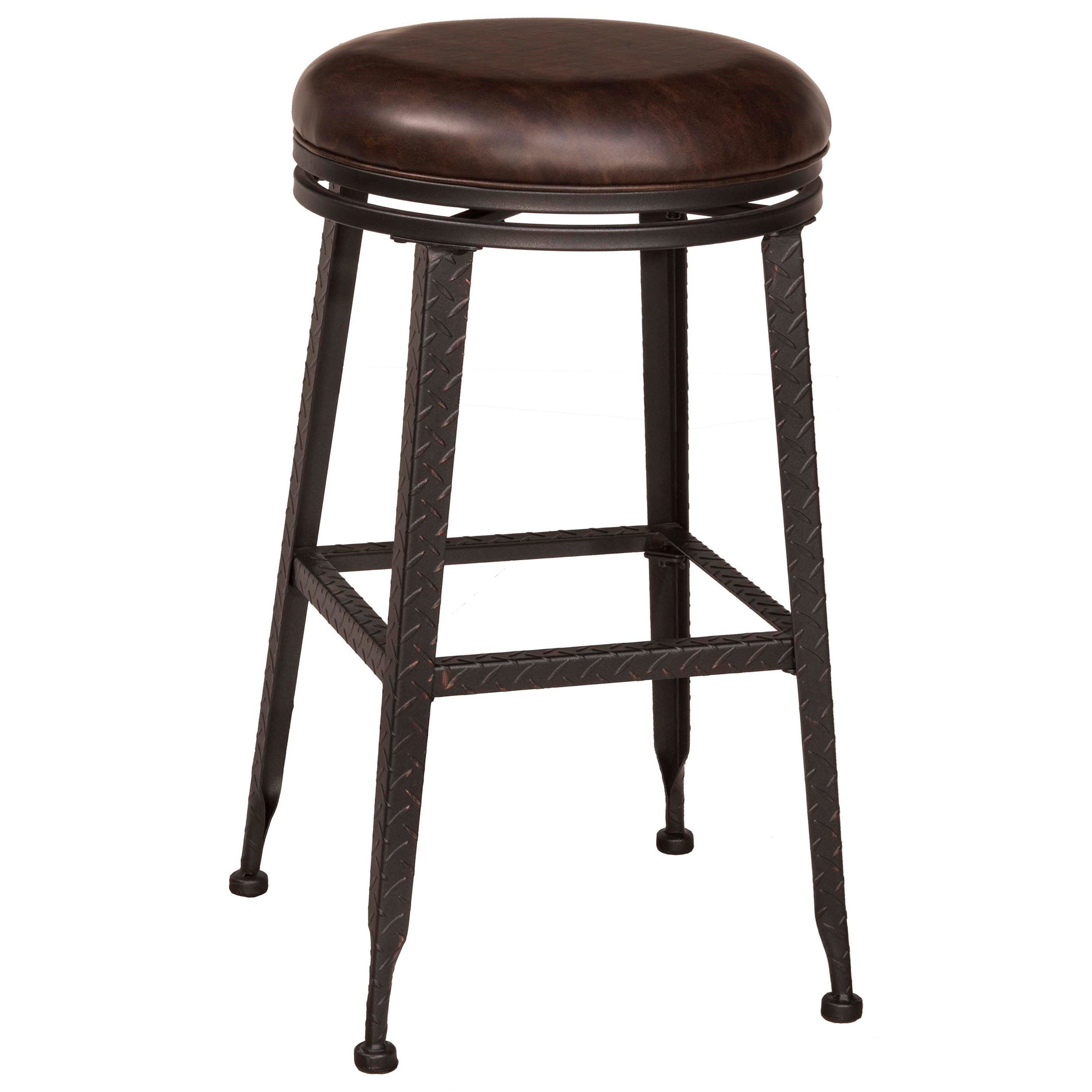 Hilale Backless Bar Stools Black Metal With Copper