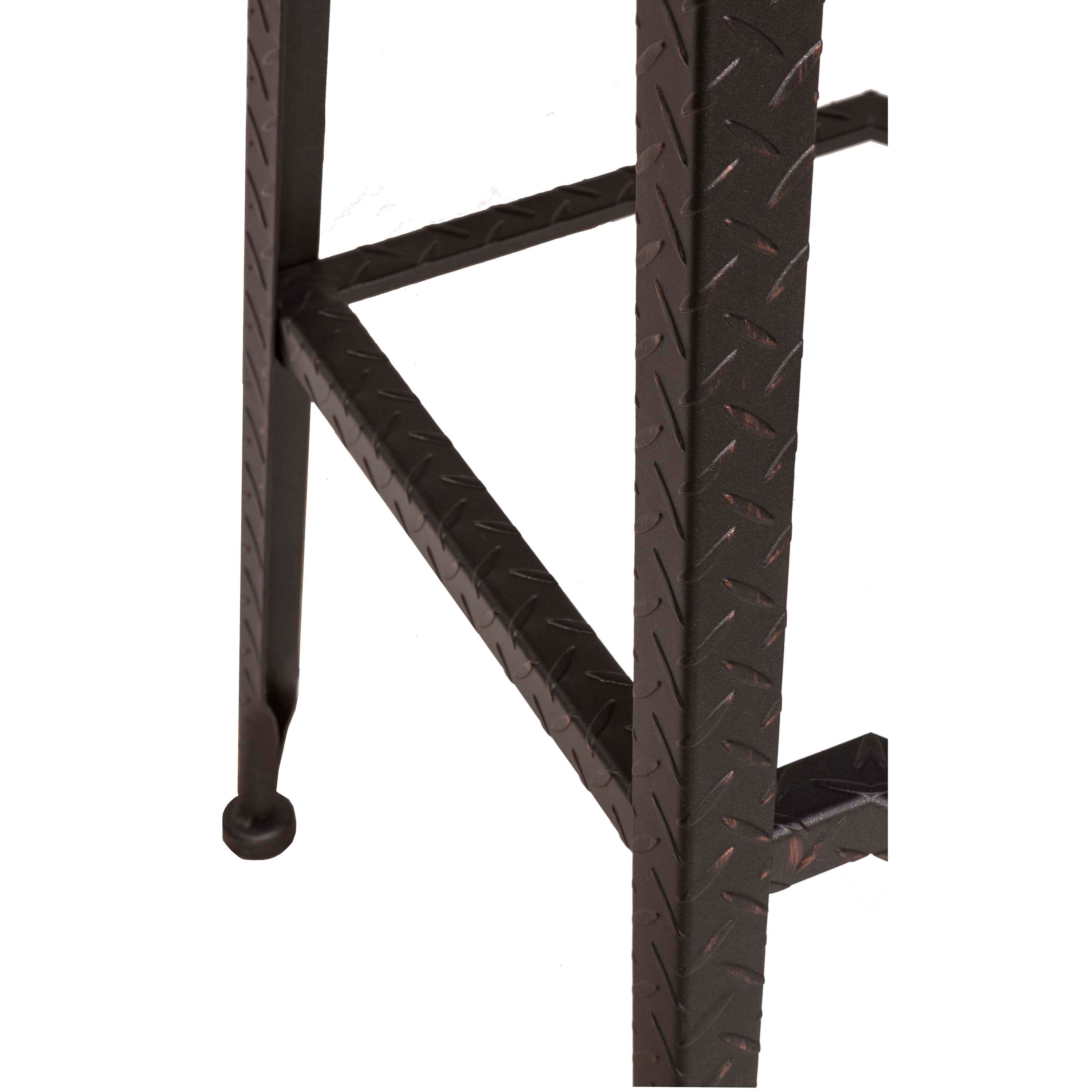Hillsdale Backless Bar Stools Black Metal With Copper