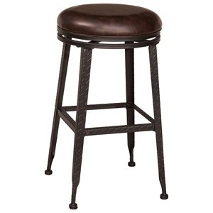 Morris Home Backless Bar Stools Backless Swivel Bar Stool