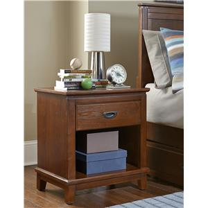 Hillsdale Bailey Mission Oak 1 Drawer Night Stand