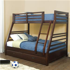 Hillsdale Bailey Mission Oak Twin/Full Bunk Bed with Trundle
