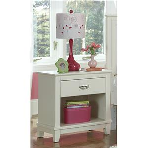 Hillsdale Bailey White 1 Drawer Night Stand