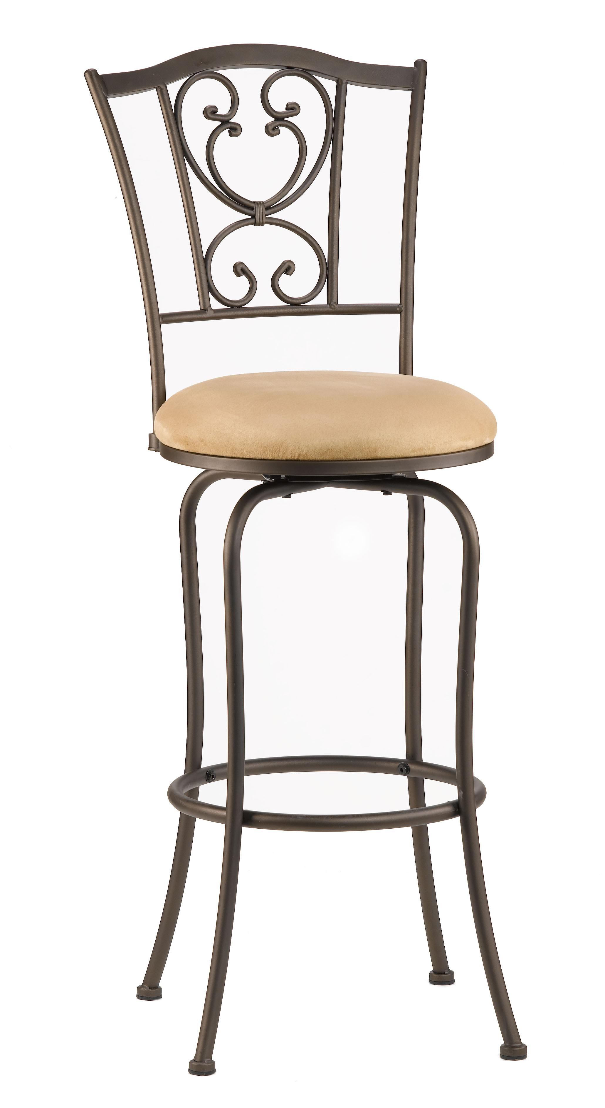 "Hillsdale Metal Stools 24"" Bar Height Swivel Stool - Item Number: 4120-821"