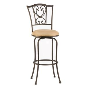 "Morris Home Furnishings Metal Stools 24"" Bar Height Concord Swivel Stool"