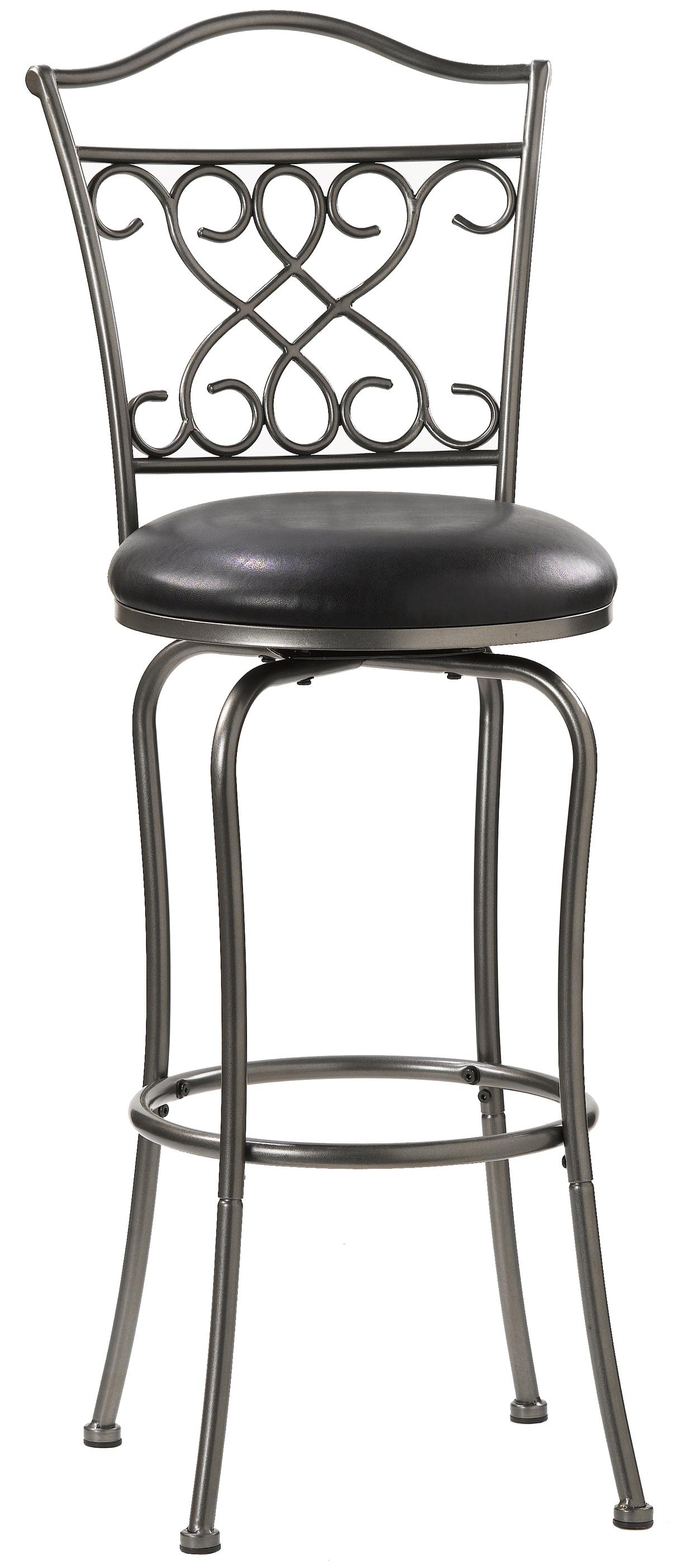 "Hillsdale Metal Stools 24"" Counter Height Wayland Swivel Stool - Item Number: 4127-821"