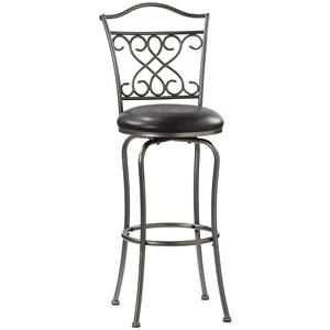 "Hillsdale Metal Stools 30"" Bar Height Wayland Swivel Stool"