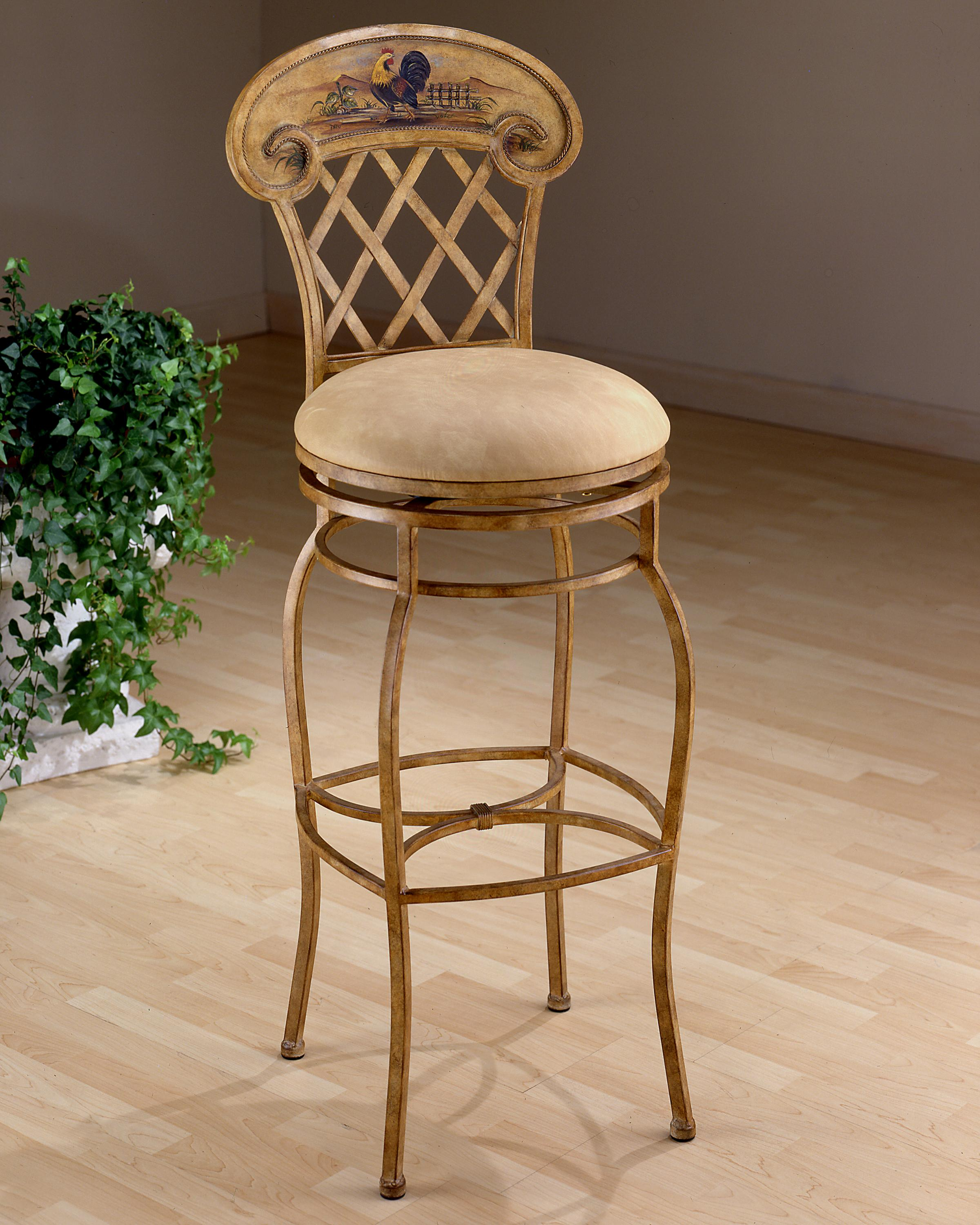 "Hillsdale Metal Stools 26.5"" Counter Height Rooster Swivel Stool - Item Number: 41344"