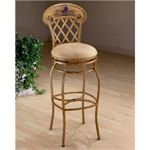 "Morris Home Metal Stools 26.5"" Counter Height Rooster Swivel Stool"