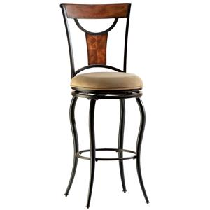 "Morris Home Furnishings Metal Stools 30"" Bar Height Pacifico Stool"