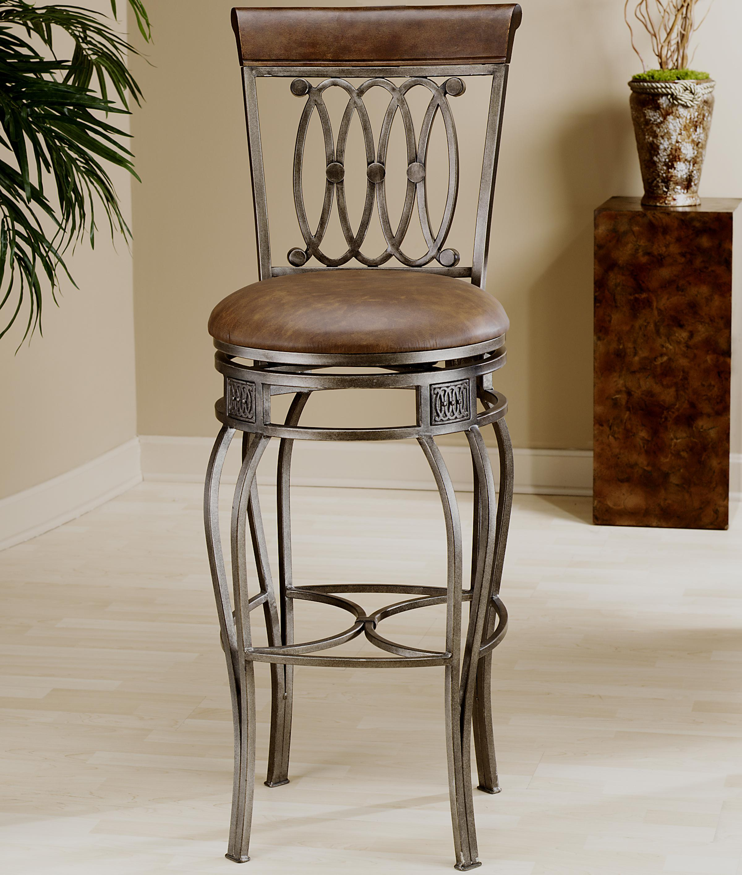 "Hillsdale Metal Stools 28"" Counter Height Montello Swivel Stool - Item Number: 41544"