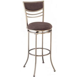 "Morris Home Furnishings Metal Stools 30"" Bar Height Amherst Swivel Stool"