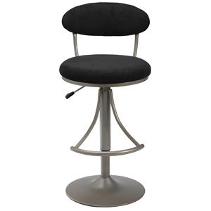 Morris Home Furnishings Metal Stools Adjustable Height Venus Swivel Stool