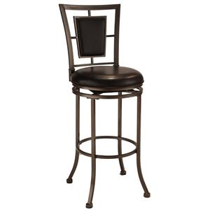 "Morris Home Furnishings Metal Stools 30"" Bar Height Auckland Swivel Stool"