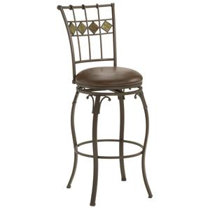 "Hillsdale Metal Stools 24"" Counter Height Lakeview Stool"